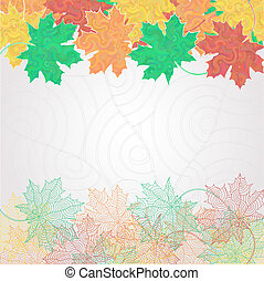 Maple leaf silhouette background
