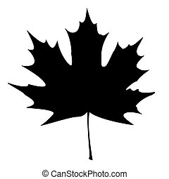 Maple Leaf Silhouette for your design. EPS10 vector...
