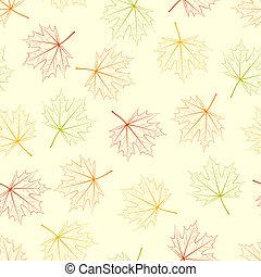 Maple Leaf Silhouette Seamless