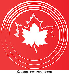 Maple leaf silhouette.