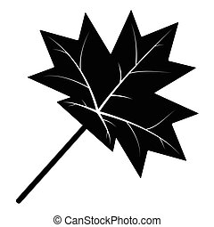 maple leaf silhouette vector symbol icon design.