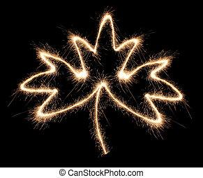maple leaf sparkler