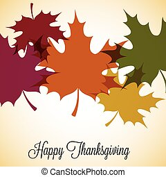 Maple leaf Thanksgiving card in vector format