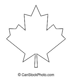 Maple leaf the black color icon .