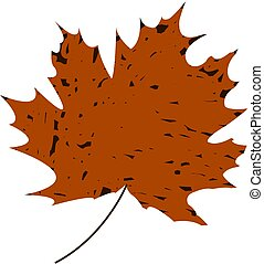 Maple leaf. Thumbnail in the vector