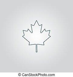 maple leaf - Simple maple leaf. Flat web icon or sign...