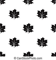 Maple Leaf vector icon in black style for web - Maple Leaf...