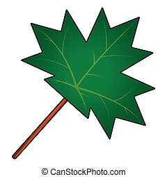 maple leaf vector symbol icon design.