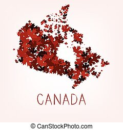 Maple Leafs Map of Canada