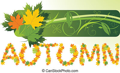 Maple leaves. Autumn banner