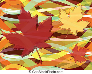 Maple leaves fall seamless pattern