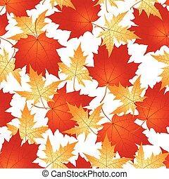 Maple leaves pattern seamless