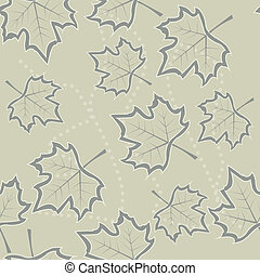 maple leaves seamless background