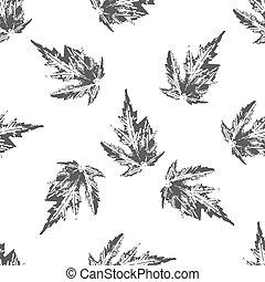 Maple leaves seamless pattern