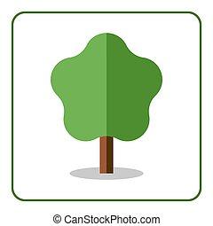 Maple linden icon Flat tree
