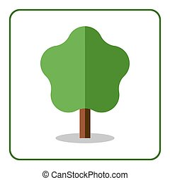 Maple linden icon Flat tree