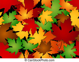 maple sai, outono, seamless, padrão