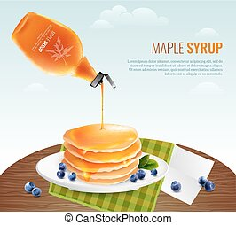 Maple Syrup Concept - Maple syrup concept with table...