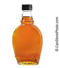 Maple Syrup Isolated On White Background. - Bottle Of...