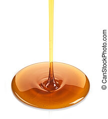 Maple syrup on a white background