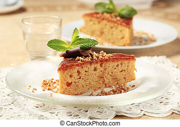 Maple syrup spice cake - Slice of maple syrup spice cake