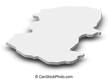 mappa, 3d-illustration, -, (bulgaria), montana