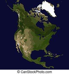 mappa, america, nord