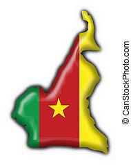 mappa, americano, bandiera camerun