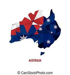 mappa, australia.