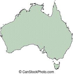 mappa, -, australia