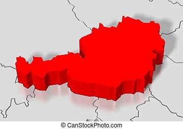 mappa, austria, -, 3d