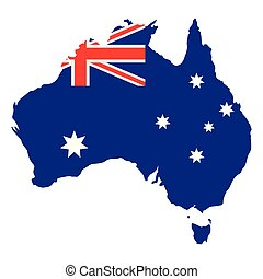 mappa, bandiera, australia