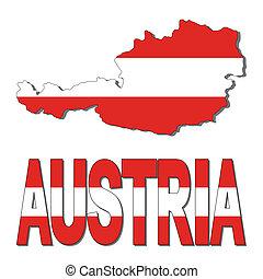 mappa, bandiera austria, testo