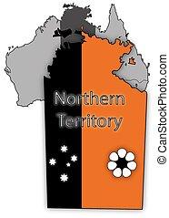 mappa, bandiera, territorio, settentrionale