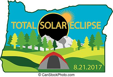 mappa, campeggio, eclissi, solare, 2017, totale, viaggio