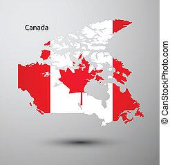 mappa canada, bandiera