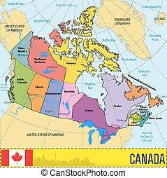 Canada Cartina Fisica.Mappa Canada Capitali Regioni Loro Dettagliato Mappa Tutto Elementi Livelli Editable Politico Capitals Altamente Canstock