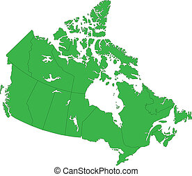 mappa canada, verde