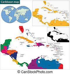 mappa, caraibico