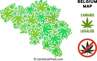 mappa, collage, foglie, marijuana, libero, regalità, belgio