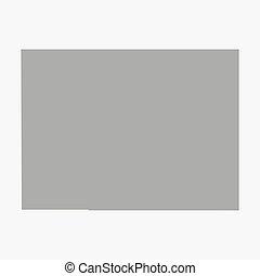 mappa, colorado, grigio, stato, fondo, bianco