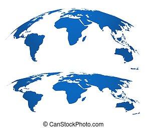 mappa, concetto, globe., web, grafico, globalizzazione, 3d, pianeta, mappe, collegamento, vettore, element., atlante, mondo, geografia, rete, tecnologia