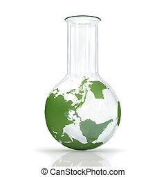 mappa, concetto, globo, ambiente, fondo, bulbo, bianco, earth., bulbo