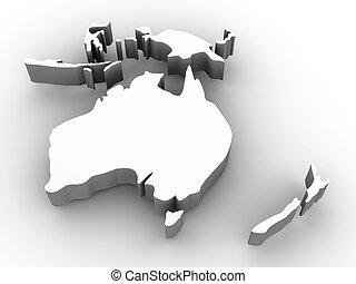 mappa, di, australia