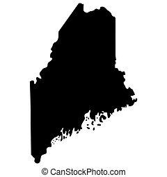 mappa, di, il, stati uniti., stato, di, maine