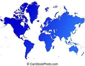 mappa, di, mondo
