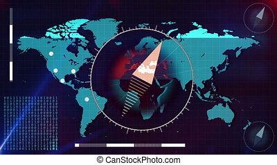 mappa, di, mondo, scanner.