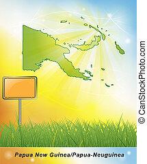 mappa, di, papua nuova guinea