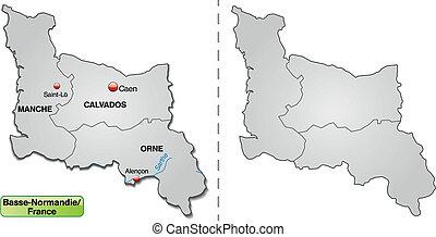 Pi basso normandia divisioni pi basso vecchio mappa for Pianta di bosso prezzo