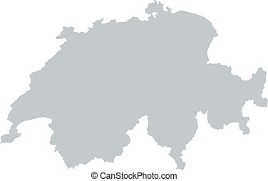 mappa, di, svizzera